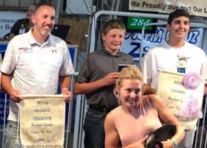 Award winners at Junior Fair.